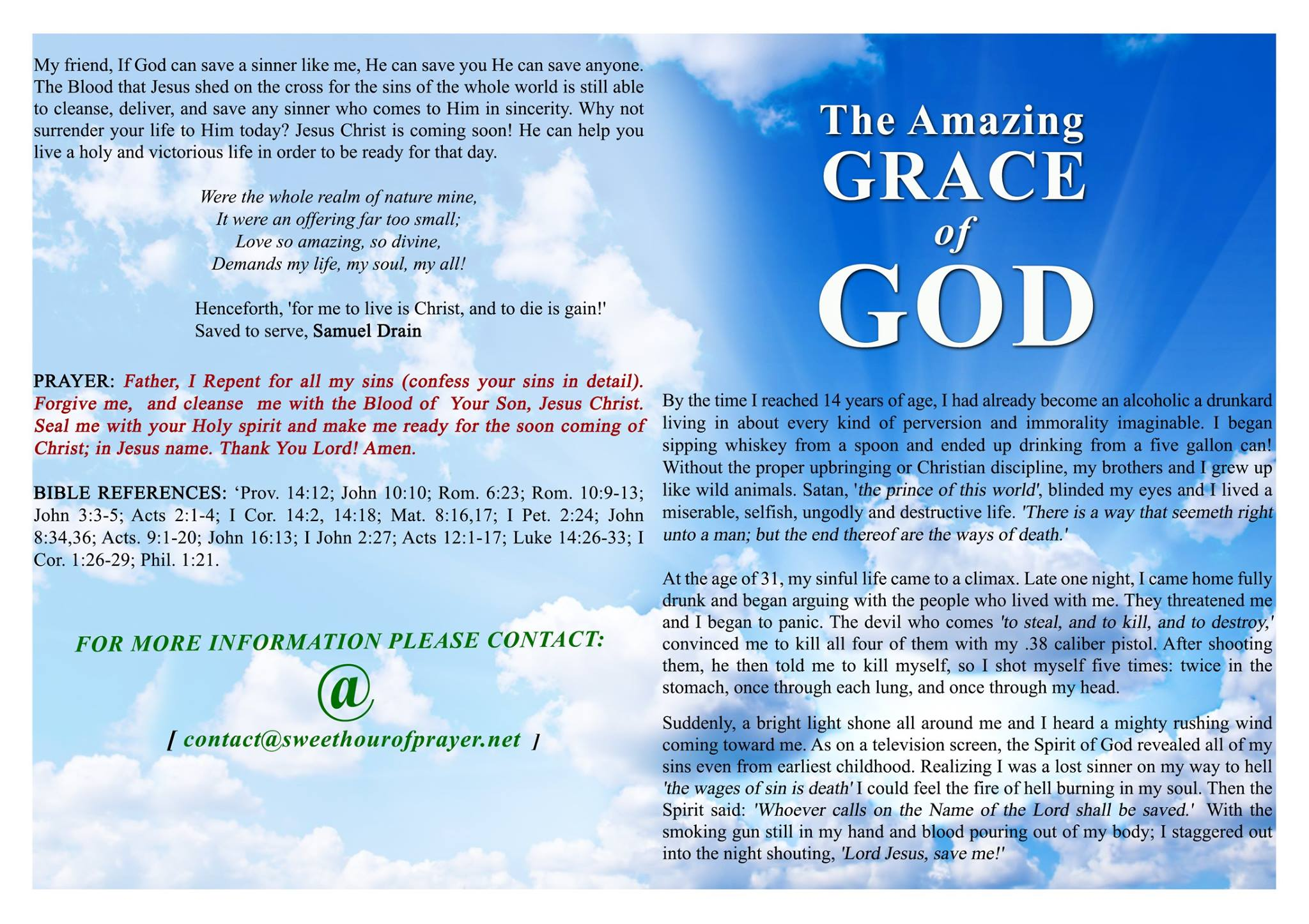 Amazing grace of God