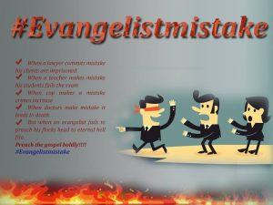 Evangelist mistake