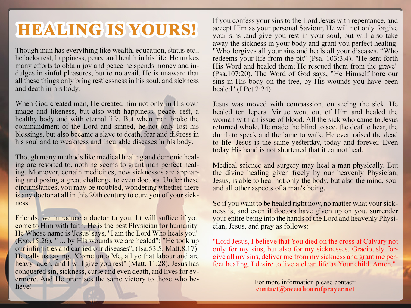 Healing is yours_English