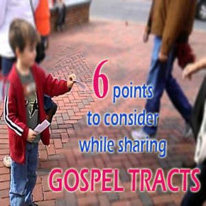 While sharing gospel tracts