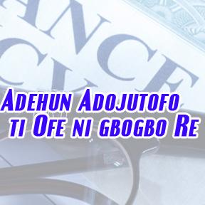 Free insurance policy-Yoruba