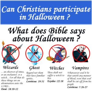 Can Christians participate in Halloween ?
